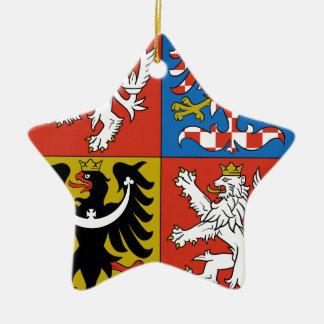 Czech Republic Coat of Arms Ceramic Ornament