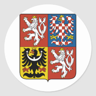 Czech Republic coat of arms Classic Round Sticker