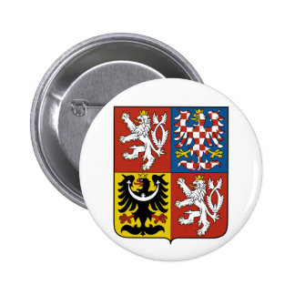 Czech Republic Coat of arms CZ 6 Cm Round Badge