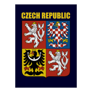 Czech Republic Coat of Arms Poster