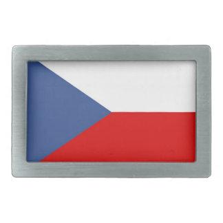 czech republic country flag rectangular belt buckle