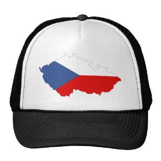 czech republic country flag map trucker hat