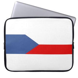 czech republic country long flag nation symbol laptop sleeve