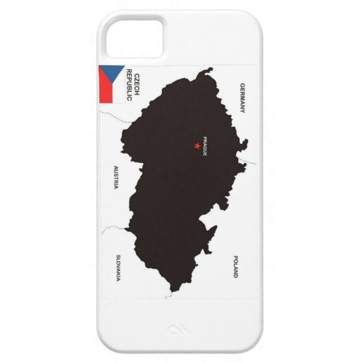 czech republic country political map flag iPhone 5/5S cases