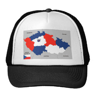 czech republic country political map flag mesh hat