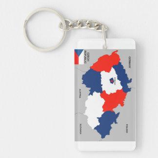 czech republic country political map flag acrylic key chain