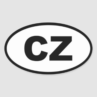 Czech Republic - CZ - European Oval Sticker