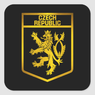 Czech Republic  Emblem Square Sticker