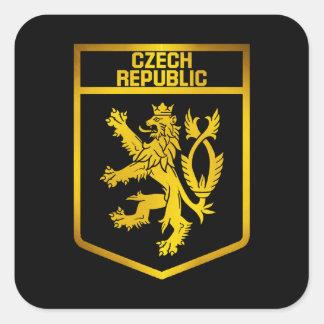 Czech Republic  Emblem Square Sticker