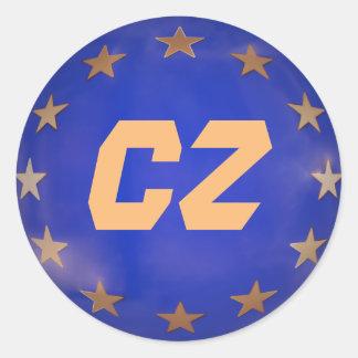 Czech Republic European Union Christmas Ornament Classic Round Sticker