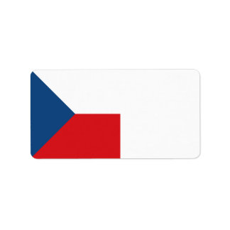 Czech Republic Flag Address Label