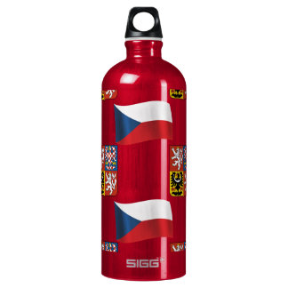 Czech Republic Flag and Crest SIGG Traveller 1.0L Water Bottle