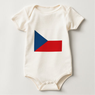 Czech Republic Flag Baby Bodysuit