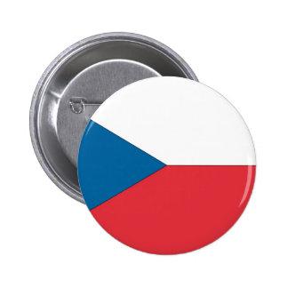 Czech Republic Flag Pinback Button