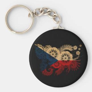 Czech Republic Flag Basic Round Button Key Ring