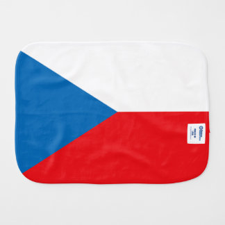 Czech Republic Flag Baby Burp Cloth