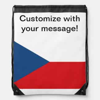 Czech Republic Flag Drawstring Backpack