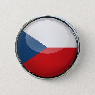 Czech Republic Flag Glass Ball 6 Cm Round Badge