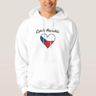 Czech Republic Flag Heart Hoodie
