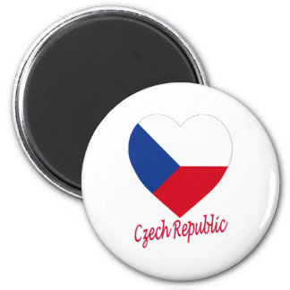 Czech Republic Flag Heart Magnet