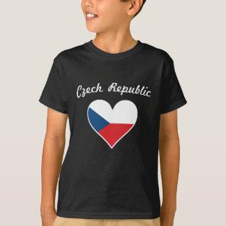 Czech Republic Flag Heart T-Shirt