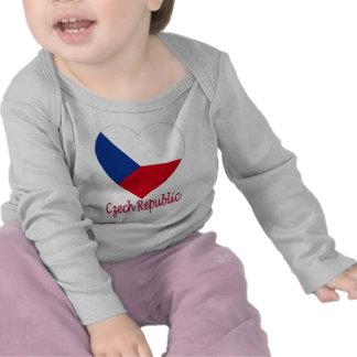 Czech Republic Flag Heart Tshirts