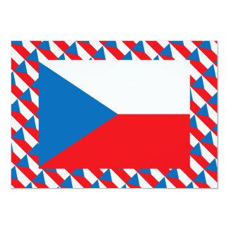 Czech Republic Flag 13 Cm X 18 Cm Invitation Card