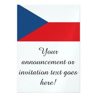 Czech Republic Flag Personalized Invite