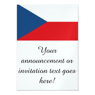 "Czech Republic Flag 5"" X 7"" Invitation Card"