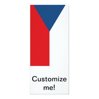 "Czech Republic Flag 4"" X 9.25"" Invitation Card"