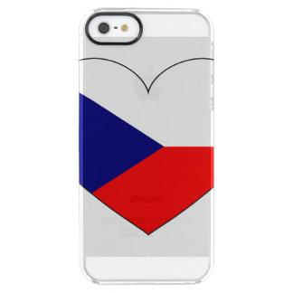 Czech Republic Flag Simple Clear iPhone SE/5/5s Case
