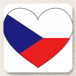 Czech Republic Flag Simple Coaster