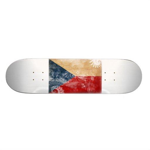 Czech Republic Flag Custom Skate Board