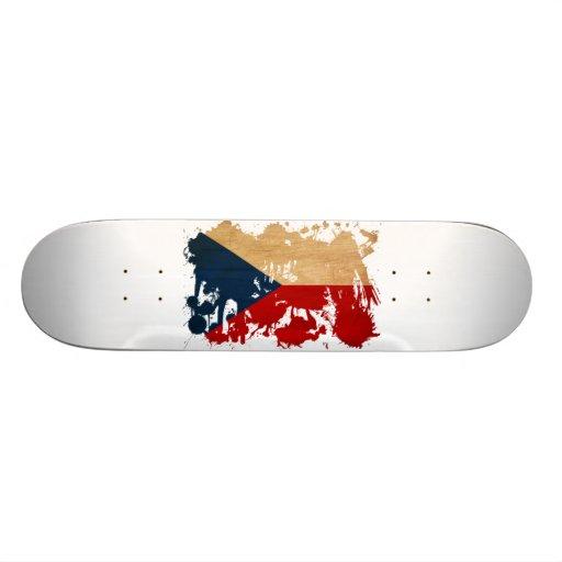 Czech Republic Flag Skate Board Deck