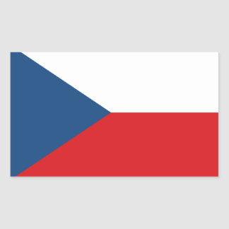Czech Republic Flag Stickers* Rectangular Sticker