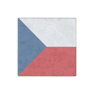 Czech Republic Flag Stone Magnet