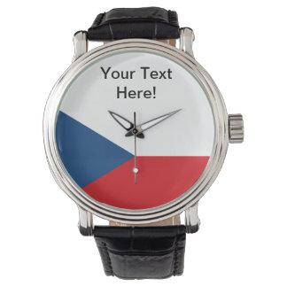 Czech Republic Flag Wrist Watches