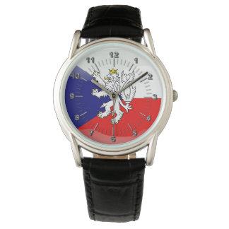 Czech Republic glossy flag Wristwatch