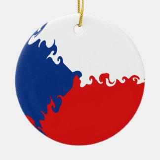 Czech Republic Gnarly Flag Christmas Ornaments