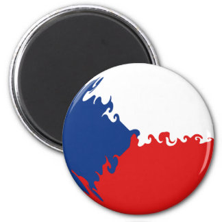 Czech Republic Gnarly Flag Magnet