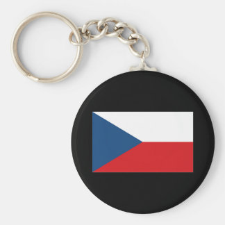 CZECH REPUBLIC BASIC ROUND BUTTON KEY RING
