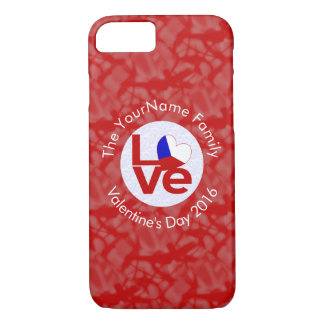 Czech Republic LOVE White on Red iPhone 7 Case