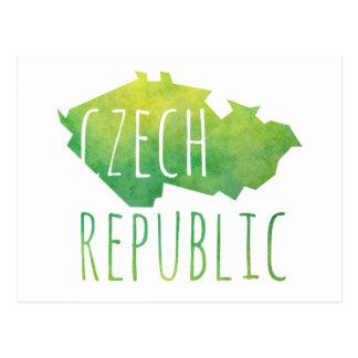 Czech Republic Map Postcard