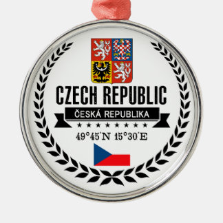 Czech Republic Metal Ornament