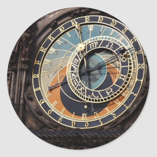 Czech Republic: Prague Astronomical Clock Classic Round Sticker
