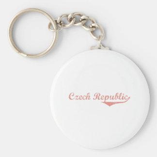 Czech Republic Revolution Style Basic Round Button Key Ring