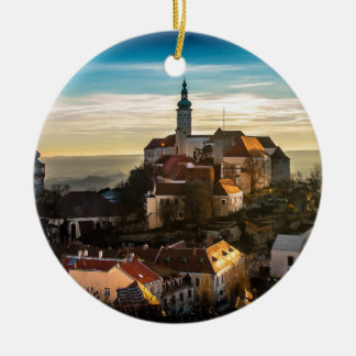 Czech Republic Skyline Ceramic Ornament