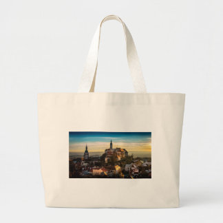 Czech Republic Skyline Large Tote Bag