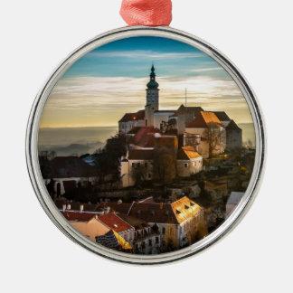 Czech Republic Skyline Metal Ornament