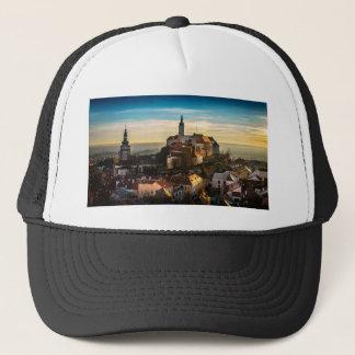 Czech Republic Skyline Trucker Hat